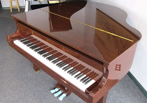 Pearl River model GP-150 polished walnut grand piano