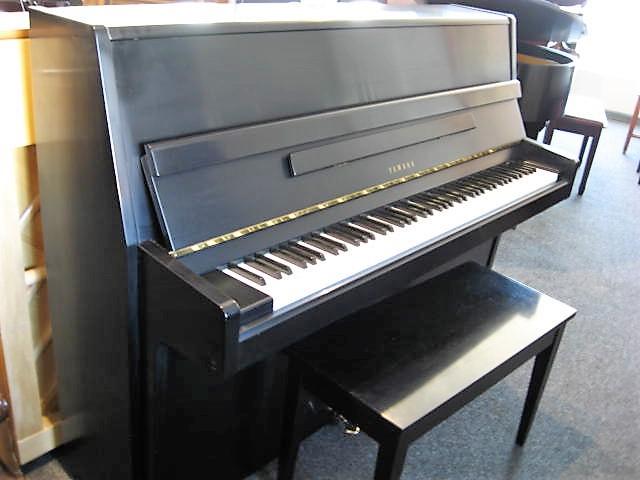 Yamaha model p2 studio upright piano in ebony piano for Yamaha upright piano models