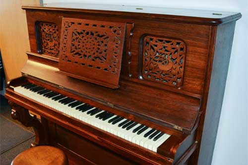 Vintage 1878 Lyon and Healy Upright Piano