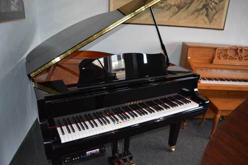 Yamaha Grand player piano polished black