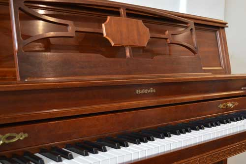 Baldwin Upright Piano in Mahogany at 88 Keys Piano Warehouse