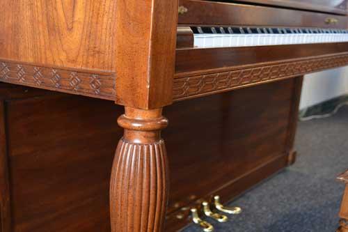 Baldwin Upright Piano leg detail at 88 Keys Piano Warehouse