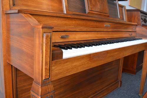 Baldwin Upright Piano keyboard at 88 Keys Piano Warehouse