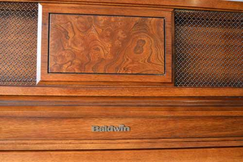 Baldwin Upright Piano logo at 88 Keys Piano Warehouse