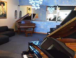 The Piano Blue Room at 88 Keys Piano Warehouse