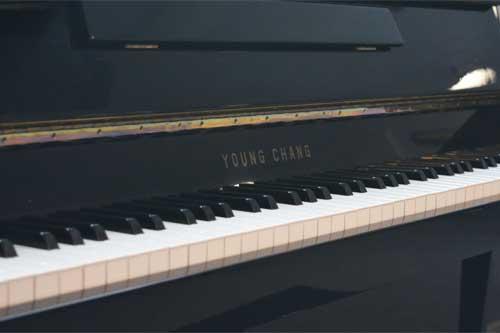 Young Chang upright piano keyboard