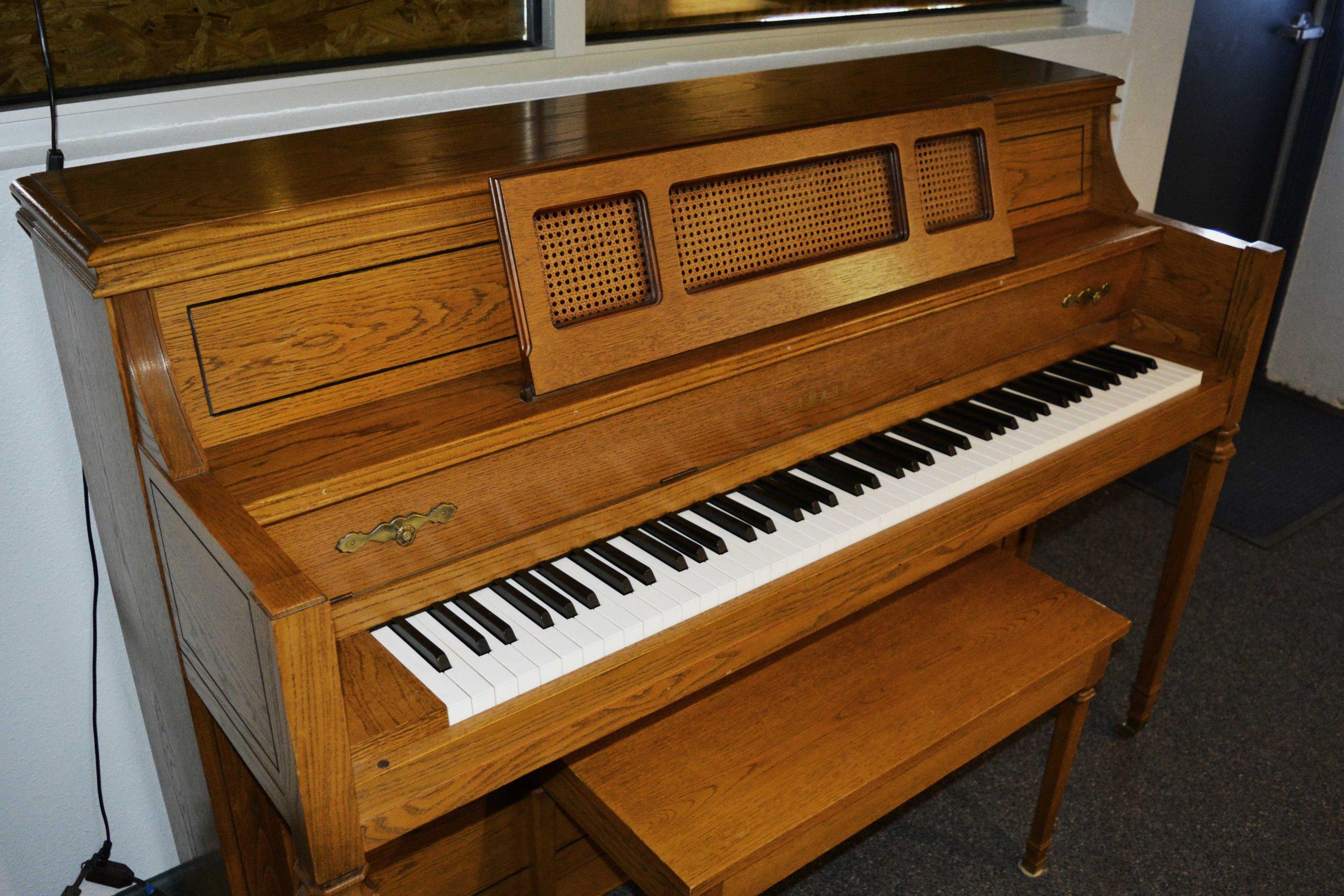 "Yamaha M402 44"" console piano at 88 Keys Piano Warehouse"