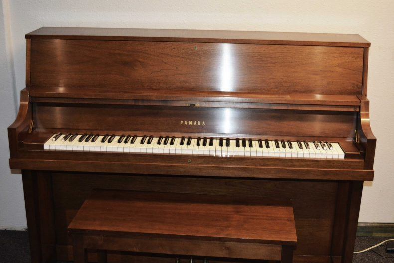 Yamaha P202 Upright Piano in oak satin finish