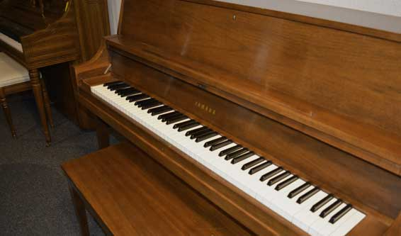 Yamaha P202 Upright Piano in walnut at 88 Keys Piano Warehouse