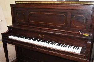 Everett Upright Piano in Cherry At 88 Keys Piano Warehouse