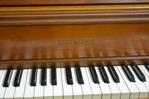 Story & Clark Model 1876 console piano keyboard at 88 Keys Piano Warehouse
