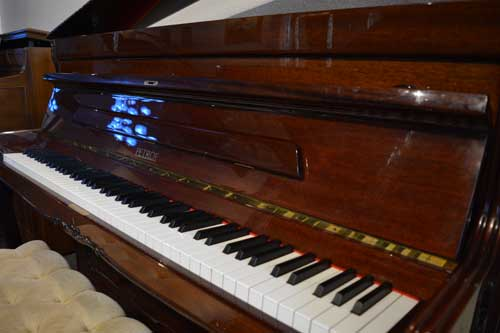 Petrof upright piano keyboard at 88 Keys Paino Warehouse