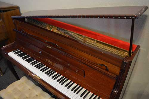 Petrof upright piano soundboard at 88 Keys Paino Warehouse