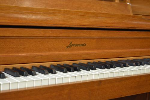 Baldwin Acrosonic console piano logo at 88 Keys Piano Warehouse