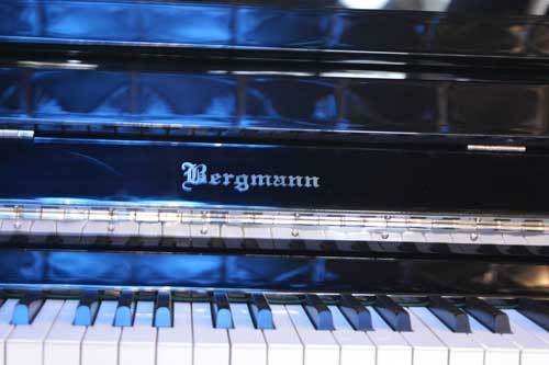 Bergmann upright piano logo at 88 Keys Piano Warehouse