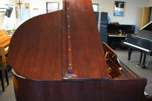 Hallet Davis Grand Piano top M-202 studio piano at 88 Keys Piano Warehouse