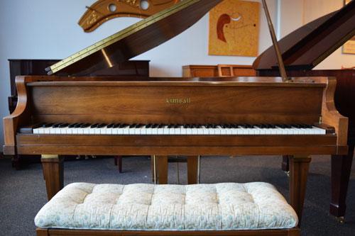 Kimball Grand piano front view at 88 Keys Piano Warehouse