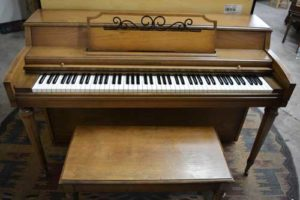 Cable Nelson spinet piano at 88 Keys Piano Warehouse