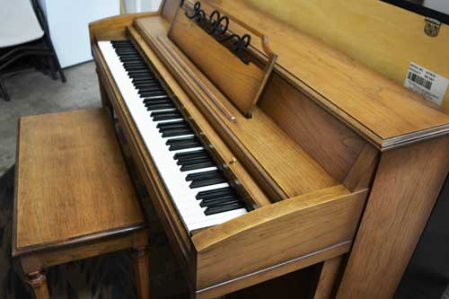 Cable Nelson spinet piano side view at 88 Keys Piano Warehouse