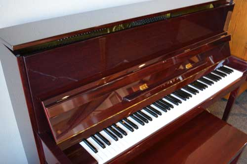 Yamaha upright piano keyboard at 88 Keys Piano Warehouse