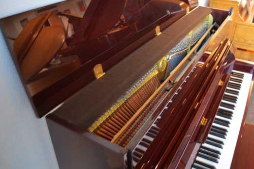 Yamaha upright piano soundboard at 88 Keys Piano Warehouse