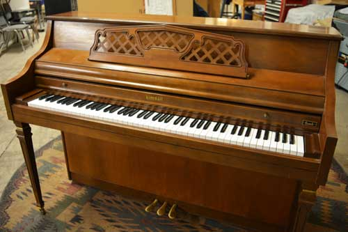 Kimbal S412 console piano top at 88 Keys Piano Warehouse