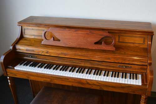 Kimball Console piano top at 88 Keys Piano Warehouse