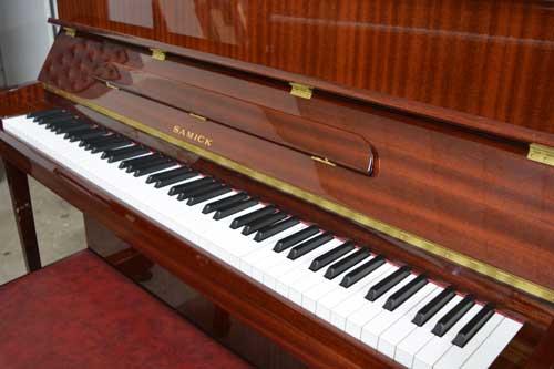 Samick console piano keyboard at 88 Keys Piano Warehouse