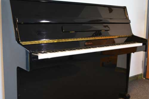 Weber console piano side view at 88 Keys Piano Warehouse