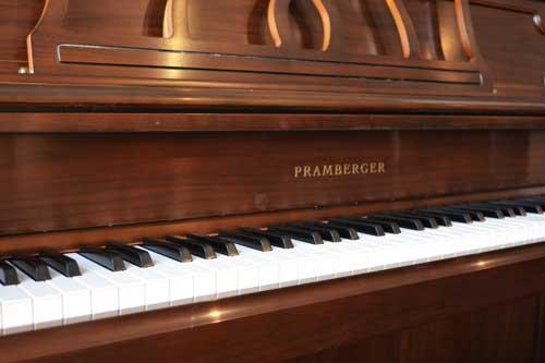 Pramberger studio piano logo at 88 Keys Piano Warehouse