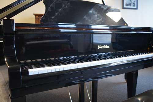 Nordiska Grand piano keyboard at 88 Keys Piano Warehouse