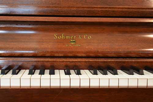 Sohmer studio piano logo at 88 Keys Piano Warehouse