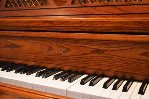 Samick studio piano keyboard at 88 Keys Piano Warehouse