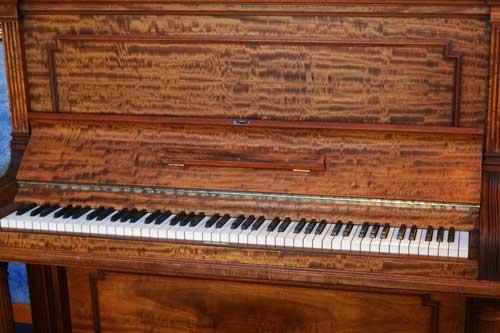Steinway Model K upright piano keyboard at 88 Keys Piano Warehouse