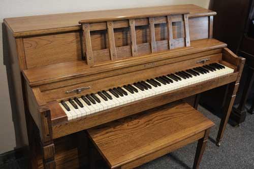 Baldwin Consolette piano side view at 88 Keys Piano Warehouse