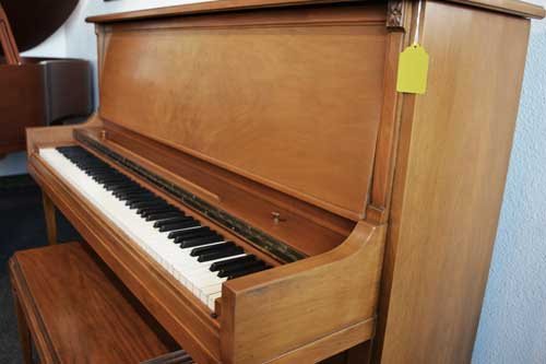 sargent upright piano side view at 88 Keys Piano swarehouse